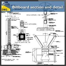 Autocad Kitchen Design Amazing Billboard Section And Detail In Autocad Dwg Files CAD Design