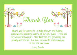 Baby Card Notes Elegant Baby Shower Thank You Note For Gift Card