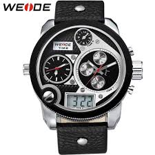 online buy whole nice watch brands for men from nice weide popular sports watches men luxury brand sport military watch leather band quartz watch men wristwatches