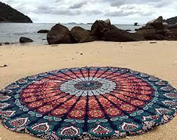 Raajsee <b>Round</b> Beach Tapestry <b>Hippie</b>/<b>Boho</b> Mandala Beach ...