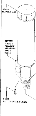 Little Dandy Rotor Size Chart Rcbs Little Dandy Powder Measure Nominal Rotor Charge