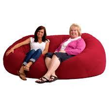 XXL Comfort Suede Bean Bag Sofa | Hayneedle