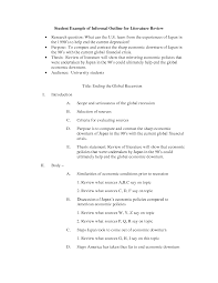 Literature Review In Apa Example Of Literature Review Ne Apa Format Template Outline