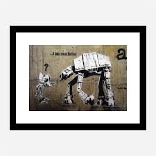 Banksy i am father 40 x 40cm printed edge to edge cushion. I Am Your Father Banksy Wall Art