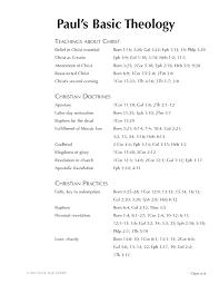 Theology Charts 12 6 Pauls Basic Theology Byu Studies