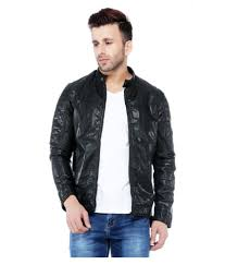 tinted black leather jacket tinted black leather jacket at best s in india on snapdeal