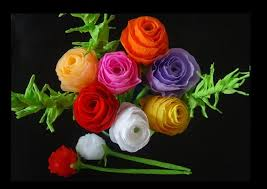 How To Make A Simple Paper Flower Bouquet How To Make Paper Flowers Rose Bouquet For Valentines Day