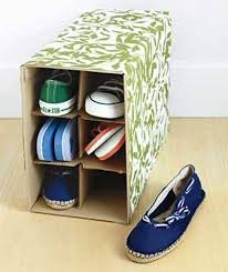 use a wine box as a diy shoe organizer real simple suggests wrapping it in pretty paper to add an extra touch of chic