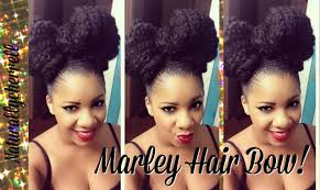 Bows In Hair Style tutorial bow hairstyle using marley braiding hair youtube 6000 by wearticles.com