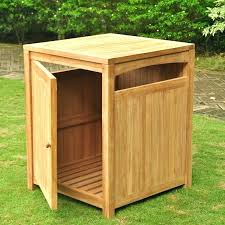 outdoor garbage can holder outside bin container trash enclosure plans cabinet outdoors portable bag