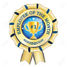 Employee Of The Month Award Best Employee Of The Month Award Ribbon Hanging Print Colors