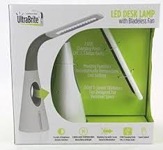 Ultrabrite Led Desk Lamp Magnificent Amazon Ultra Brite LED Desk Lamp With Bladeless Fan Computers