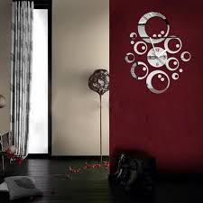 Small Picture Buy Modern Design Round Mirror Wall Clock online in pakistan