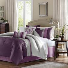 madison park amherst purple queen 7 piece bed in a bag