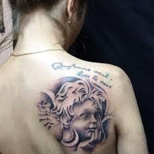 100 лучших идей тату ангел для мужчин и женщин на фото