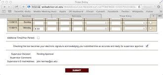 Payroll Time Sheet Entry Myoc Oklahoma Christian University