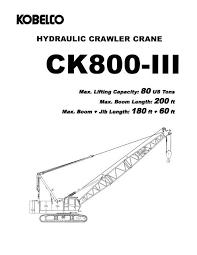 Hydraulic Crawler Crane Kobelco Cranes North America