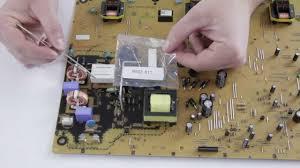 lg tv fuse. emerson / sylvania magnavox no power lcd tv repair a17f8mpw supply component kit - youtube lg tv fuse