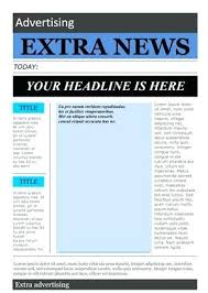 Old Time Newspaper Template Word Newspaper Outline Word Layout Template For Microsoft 2010