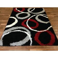 red black and gray area rugs visionexchange co household pertaining to 16