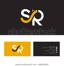 S R Letter Logo Business Card Stock Vector Royalty Free 486039085
