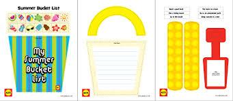 Bucket List Printable Template Printable My Summer Bucket List Craft Project Alexbrands Com