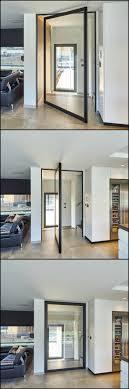 Glazen Pivotdeur Van Vloer Tot Plafond Zonder Inbouwdelen In De - Exterior pivot door