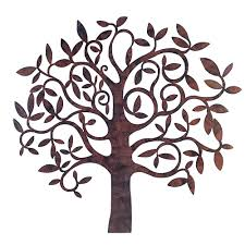 Impressive Design Decor Bj Keith Metal Tree Metal Wall Art Tree Of