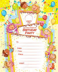 Party Rsvp Template Invitation Card For The Birthday Party Template For Filing Information