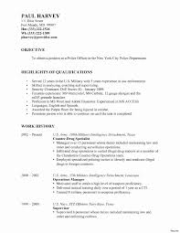 Stunning Sample Resume For Police Officer With Marine Officer