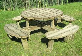 round wooden picnic table best attractive round wood picnic table house ideas wooden tables within round