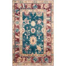 safavieh maharaja blue red 8 ft x 10 ft area rug