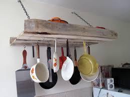 Kitchen Pot Rack Home Improvements Pallet Pot Rack A Greenpoint Kitchen