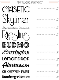 free 40 fonts for diy wedding invitations from dafont com
