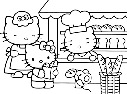 Small Picture This is a Coloring sheet with Hello Kitty that can be printed