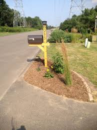 Cedar Mail Post With Bronze Mailbox Numbers And Solar
