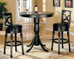 round pub table and chairs dinning room plain black pub table set 4 black pub table