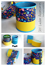 diy locker decorations and accessories with duck tape