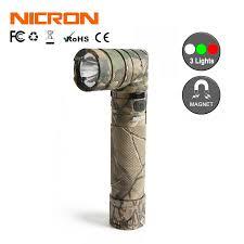 NICRON Cam Phối Xoắn Đèn Pin Ngoài Trời 3 Màu Handfree Có Nam Châm Sạc  18650 1200LM 90 Độ Đèn Pin LED B70 Plus|LED Flashlights