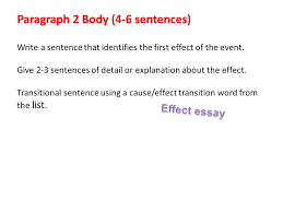 cause and effect essays ppt  20 paragraph