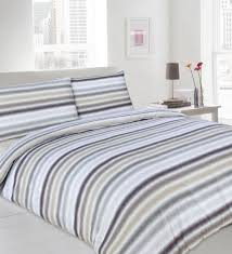 grey and beige duvet cover