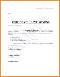 Format Of Employer Certificate Employment Sample And Award Templates