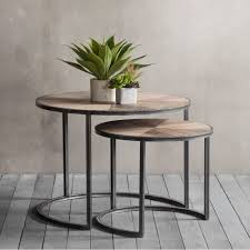 fulton set of  nesting coffee tables  modern side tables