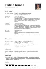 Qc Resume Samples Resume Format Quality Control Resume Templates
