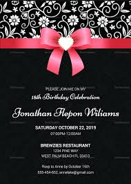 template 18th birthday invite template templates free in word for adorable invitation ideas card designs
