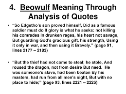 Christianity In Beowulf Quotes Best of Beowulf Themes 24 The Importance Of Establishing An Identity Ppt