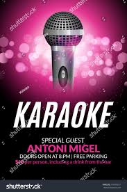 Karaoke Night Flyer Template Karaoke Party Invitation Poster Design Template Stock Photo Photo 21