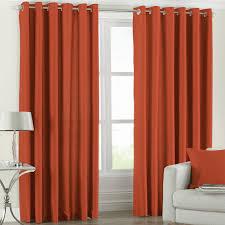 fiji burnt orange faux silk ready made curtains