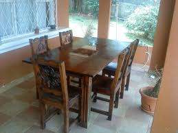 wood and wrought iron furniture. Dining Room Sets From Iron : Rustic Design With Rectangular Brown Hardwood Table Wood And Wrought Furniture I