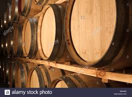 stacked oak barrels maturing red wine. Stacked Oak Barrels For Maturing Red Wine And Brandy T